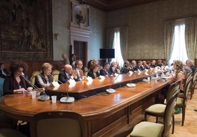 Scuola: incontro Governo-sindacati su ddl riforma ANSA/PRESIDENZA CONSIGLIO/TIBERIO  BARCHIELLI (ANSA)