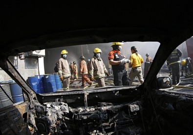 Rogo in una fabbrica a Manila (ANSA)
