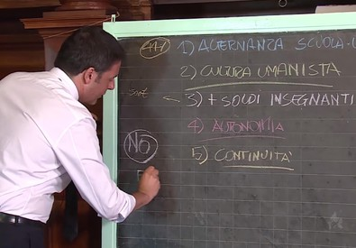 Un fermo immagine del video di Renzi (ANSA)