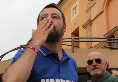 Lega: Salvini contestato a Marsciano, raggiunto da sputo (ANSA)