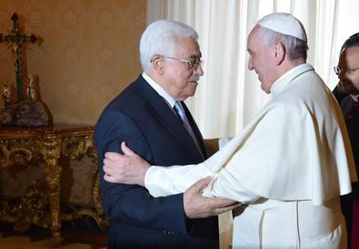 Il Papa incontra Abu Mazen (ANSA)
