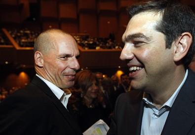 Alexis Tsipras (d) e Yanis Varoufakis (ANSA)