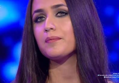 Un frame del video dello show in cui la vittima, una ragazza di 19 anni, è stata raggiunta alla testa da un proiettile (ANSA)