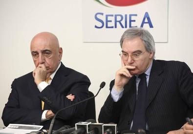 Maurizio Beretta e Adriano Galliani (ANSA)