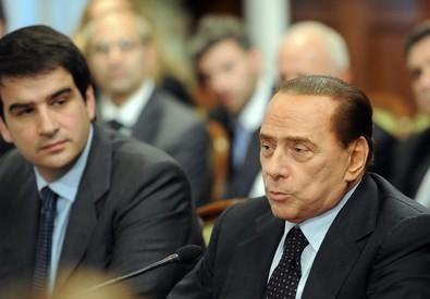 Silvio Berlusconi e Raffaele Fitto in una foto d'archivio (ANSA)