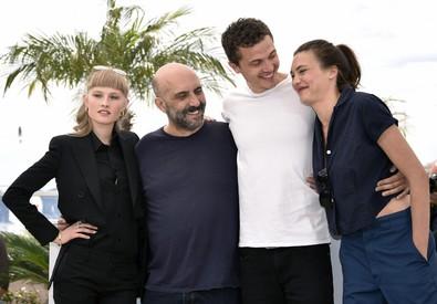 Klara Kristin, Gaspar Noe, Karl Glusman e Aomi Muyock (ANSA)