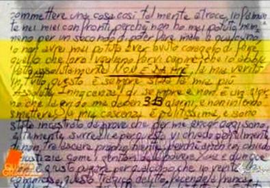 La lettera di Bossetti da Quarto Grado (ANSA)