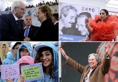 Il ricordo della strage di Capaci a Palermo con il presidente Mattarella e Maria Falcone; a Milano all'Expo; a Napoli; e a Firenze con la vedova Caponnetto (ANSA)