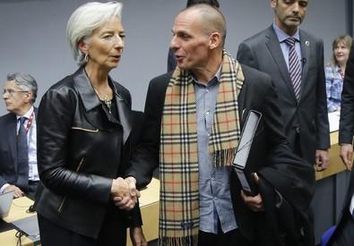 Christine Lagarde e Yanis Varoufakis (ANSA)