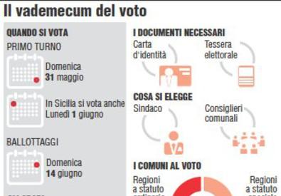 INFOGRAFICA: Il vademecum del voto (ANSA)