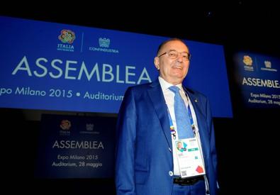 Giorgio Squinzi all' Assemblea Generale di Confindustria a Expo Milano 2015 (ANSA)