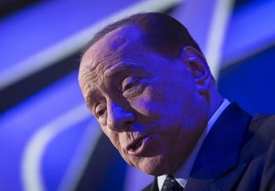 Il leader di Forza Italia, Silvio Berlusconi, ospite della trasmissione Rai 'Virus' (ANSA)