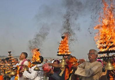 Immagine di repertorio del Festival Hindu (ANSA)