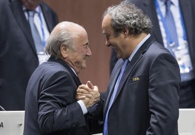 Michel Platini e Sepp Blatter (ANSA)