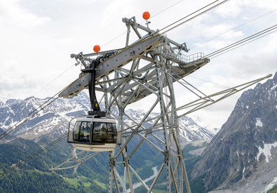 Nuova funivia Monte Bianco (ANSA)