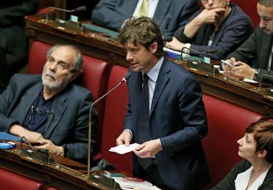 Pippo Civati ieri in Aula (ANSA)