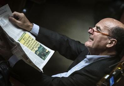 Pier Luigi Bersani alla Camera durante l'esame della legge elettorale (ANSA)