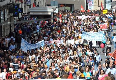 Lo sciopero della scuola (ANSA)