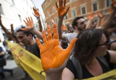 Le proteste di ieri (ANSA)