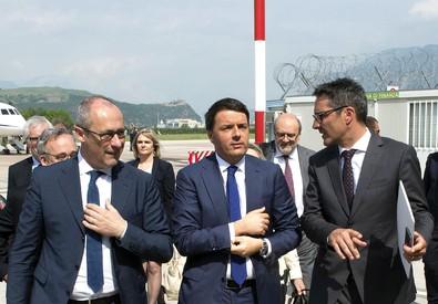 Renzi in visita in Trentino Alto Adige  ANSA/PALAZZO CHIGI -  TIBERIO BARCHIELLI (ANSA)