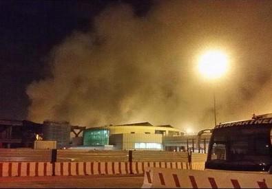 Incendio in aeroporto Fiumicino (ANSA)