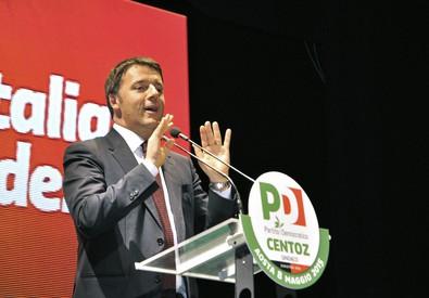 Matteo Renzi ad Aosta (ANSA)