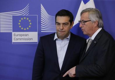 Jean claude Juncker (d) e Alexis Tsipras (ANSA)