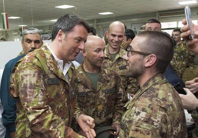 Matteo Renzi ad Herat (ANSA)