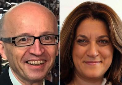 Claudio Ricci e Catiuscia Marini (ANSA)