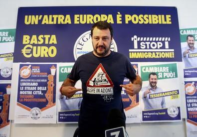 Il leader della Lega Nord Matteo Salvini (ANSA)