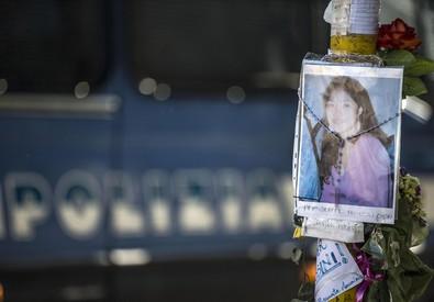 Una immagine di Corazon 'Corie' Perez Abordo durante la manifestazione di Casapound (ANSA)