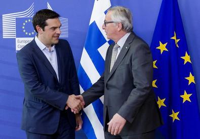 Tsipras e Juncker (ANSA)