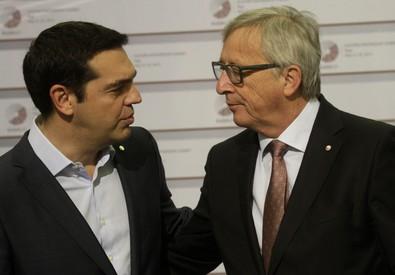 Tsipras-Juncker (ANSA)