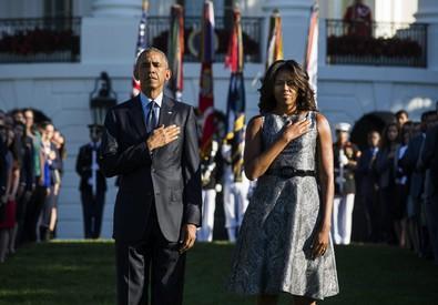 Obama e la moglie Michelle (ANSA)