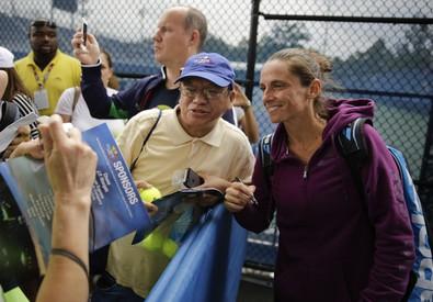 Roberta Vinci si prepara alla finale (ANSA)