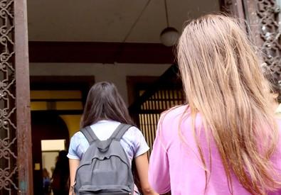 Il primo giorno di scuola (ANSA)