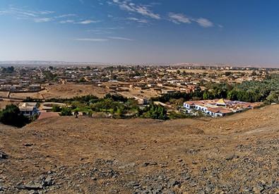 L'oasi di Bahariya nel Deserto occidentale in Egitto dove erano diretti i 12 turisti uccisi per errore in un blitz anti-Isis (ANSA)