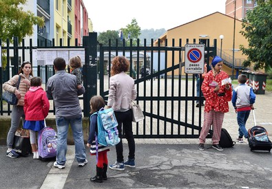 Primo giorno di scuola: qui Torino (ANSA)