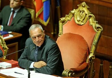 Il presidente del Senato, Pietro Grasso (ANSA)
