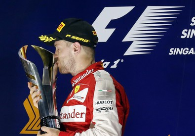 Vettel esulta, una giornata perfetta (ANSA)
