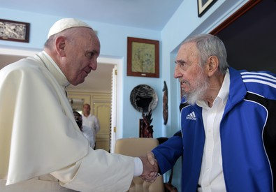 Papa a Cuba: Francesco ha incontrato Fidel Castro (ANSA)