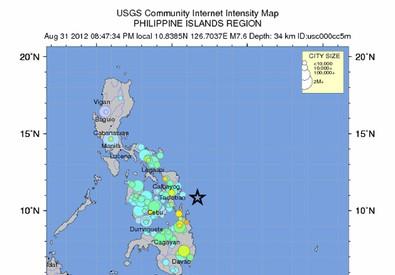 Una cartina geografica delle Filippine (ANSA)