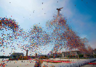 Celebrazioni in Cina per il settantesimo anniversario dalla fine della seconda guerra mondiale (ANSA)