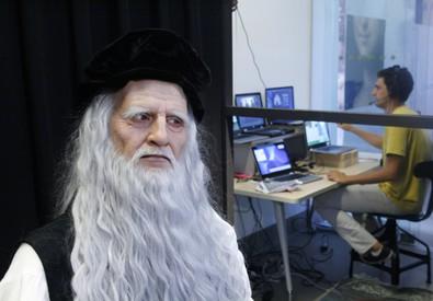 Leonardo da Vinci diventa un androide (fonte: Museo nazionale della scienza e della tecnologia Leonardo da Vinci) (ANSA)