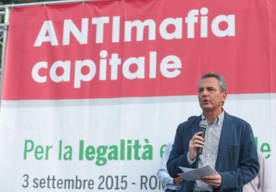 Sit-in antimafia a Roma (ANSA)