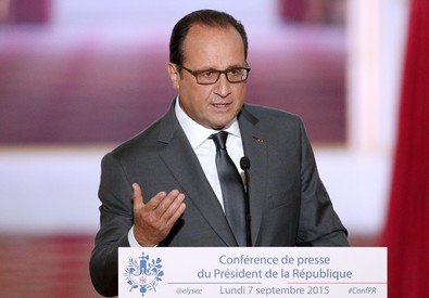 Francois Hollande in conferenza stampa (ANSA)