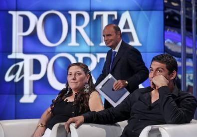 Vera e Vittorino Casamonica a 'Porta a Porta' (ANSA)