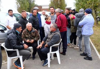 Barricata a Gorino - Foto Filippo Rubin (ANSA)