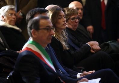 Il sindaco Sala ai funerali laici di Umberto Veronesi (ANSA)