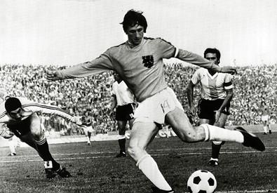 Johan Cruijff negli anni '70 (ANSA)